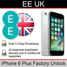 EE UK iPhone 6 Plus Factory Unlocking Service (FAST 1-3 WORKING DAY SERVICE)