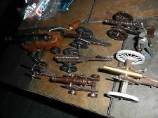 8 LOT VINTAGE TOY GUN CANNONS ENGLAND CANADA HONG KONG SPAIN MILITARY ARTILLERY