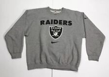 Vintage Oakland Raiders Nike Crewneck Sweater Mens Size L