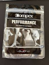 Compex Easy Snap Electrodes - 2in x 4in, 1 Pack (4 Electrodes) - Black