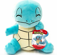 Pokemon Squirtle Soft Toy Light Blue Plush 20cm Sitting Closed Eyes Licenced New