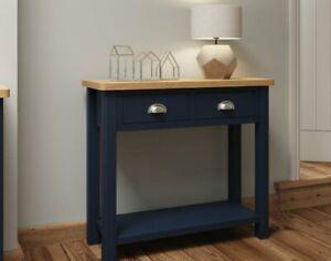Oak City - Dorset Painted Blue Oak Console Table