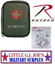 OD Green Military Style Small Zipper First Aid Kit 8328