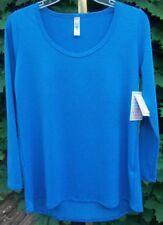 Lularoe Lynnae XS Long Sleeve Blue w/Bit of Heathering New with Tags