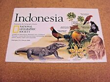 National Geographic February 1996 Map Indonesia