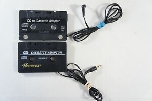 2 Pack Philips + Memorex Portable CD MP3 to Cassette Car Adapter #34126