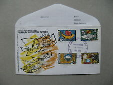 AUSTRALIA, cover FDC 1972, food cattle rice fruit fish