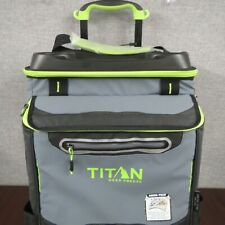 Titan Deep Freeze Rolling Cooler 60 Can Capacity With All Terrain Cart ~NEW~
