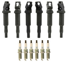 OEM Ignition Service Kit Set of 6 Ignition Coils with Spark Plugs For BMW
