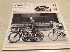 Carte moto Moto de Stayer 1100 cm3 MAG 2C 11 A 1926 collection Atlas France