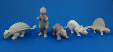 5 Marx Dinosaurs Gray Plastic Vintage 1950s - 1960s Prehistoric Playset Lot