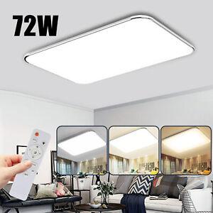 72W LED Deckenleuchte Deckenlampe Panel Badlampe Wohnzimmer Dimmbar Küche