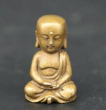 Statuette en bronze de Bouddha Bodhisattva Kshitigarbha modèle de piété filiale
