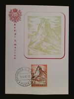 SAN MARINO MK 1962 CERVINO MOUNTAIN BERG BERGE MAXIMUMKARTE MAXIMUM CARD MCc7785