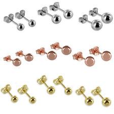 Kugel Ohrstecker Paar ECHT 925 Silber Rose Gold Ohrringe Ohrschmuck Stecker 1 A