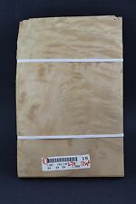 """Quilted maple molted raw wood veneer 11 1/2"""" x 7 3/4"""" x 1/42'' ONE SHEET"""