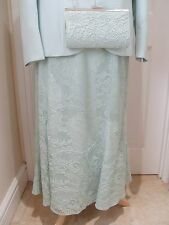 14 Jacques Vert Skirt Suit 2 in1 Green Corded Lace Mother of the Bride Races