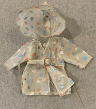 "Vintage Tiny Tears (?) Baby Doll Clothes Rain Coat For 12.5"" Doll"
