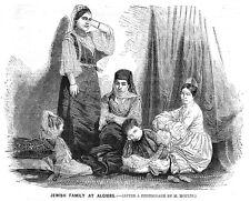 Argelia una familia judía en Argel-Antiguo impresión 1860