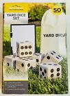 Beyond Outdoors Jumbo Giant Wooden Yard Dice Lawn Bowling Set Game 3.5x3.5 inch