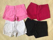 Lot Of 4 J. Crew Size 0 Magenta. Pink. Black. White Chino Shorts