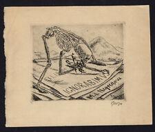 19)Nr.098- EXLIBRIS- Willi Geiger, 1925,  Tod / death
