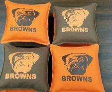 CLEVELAND   BROWNS     CORNHOLE BAGS  SET OF 8   NFL        BAGGO