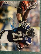 LADAINIAN TOMLINSON AUTOGRAPHED SIGNED 8X10 PHOTO CHARGERS W/COA