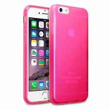 Defensive Apple iPhone 6 6S Bump Silicone Gel Cover Pink FREE SCREEN PROTECTOR