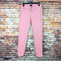 Cello Womens Size 9 Juniors Skinny Pink Denim Jeans