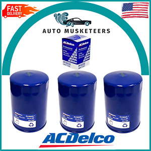 AC Delco PF2232 Engine Oil Filter Set of 3 for Chevy GMC 6.6 Duramax Diesel New