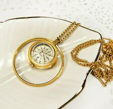 Gold Women's Watch Chaika Necklace - Small Mechanical Watch Pendant AU5