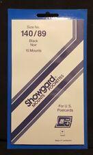 Showgard Stamp Mount 140/89 BLACK Background, Pack of 10