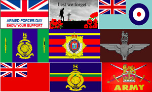Armed Forces Flags Military Regiments Army Marines Navy Remembrance Day 11/11