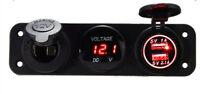 5v 3.1a LED Dual USB presa 12v voltmetro pannello per installazione su AUTO MOTO