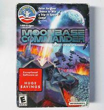 new MoonBase Commander PC IBM WIN 98 2000 Me XP Star Moon Base Space Wars BIGBOX