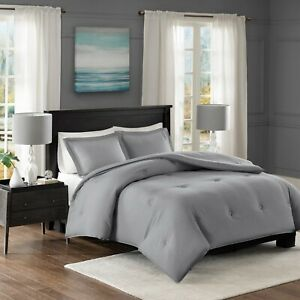 Madison Park Clay Yarn Dyed Heather Weave Microfiber Down Comforter Set Twin