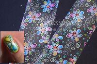 """Watercolour flowers"" Transfer Nail Foil - 1 Meter"