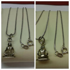 Necklace 925 Silver Silver Chain with Pendant Meditation 50 cm