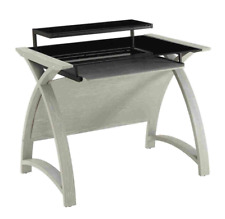 Grey Ash Laptop / Computer Desk & Keyboard Shelf PC201-900mm by Jual Furnishings