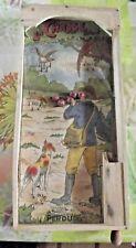 Ancien Jeu de Billard à Tirette Flipper Café Bistrot Déco Chasse Chien Bois 1950