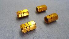 RENAULT métal or Valve poussière Caps pneu roue en Aluminium Hexagone couverture solide