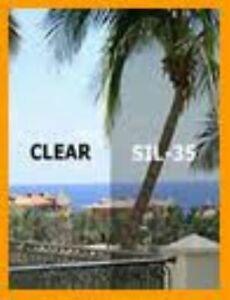"Chrome 35% Light Mirror Window Tint Film One Roll 20""X10' Wide NEW UNCUT SILVER"