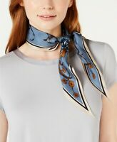 Vince Camuto Wallpaper Floral Silk Bandana Scarf BLUE One Size