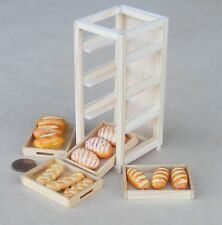 1:12 Scale Full Wooden Bakers Shop Tray Rack Dolls House Miniature Accessory B