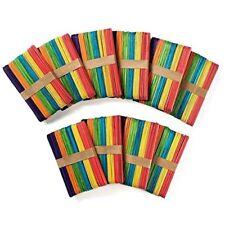 "500 pieces 6"" Craft Sticks Popsicle Sticks Tongue Depressors - Assorted Color"