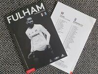 Fulham v Birmingham COMPLETE SOLD OUT Programme 4/7/2020! Last few!!!!