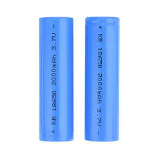 2x Genuine Panasonic 18650 2000mAh Rechargeable Battery Li-ion For LED Torch