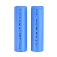 2 STÜCKE ICR 18650 3,7V 2000mAh Li-Ion Wiederaufladbare Mod Vape Batterie Flache