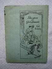 Vintage Booklet Recipes for Goodman's Food Products 17th Street New York City